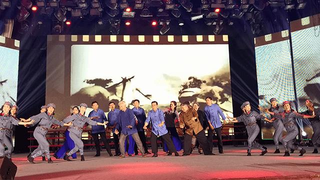 """全省离退休干部庆祝新中国成立70周年""""我和我的祖国""""文艺汇演主会场演出成功举行"""